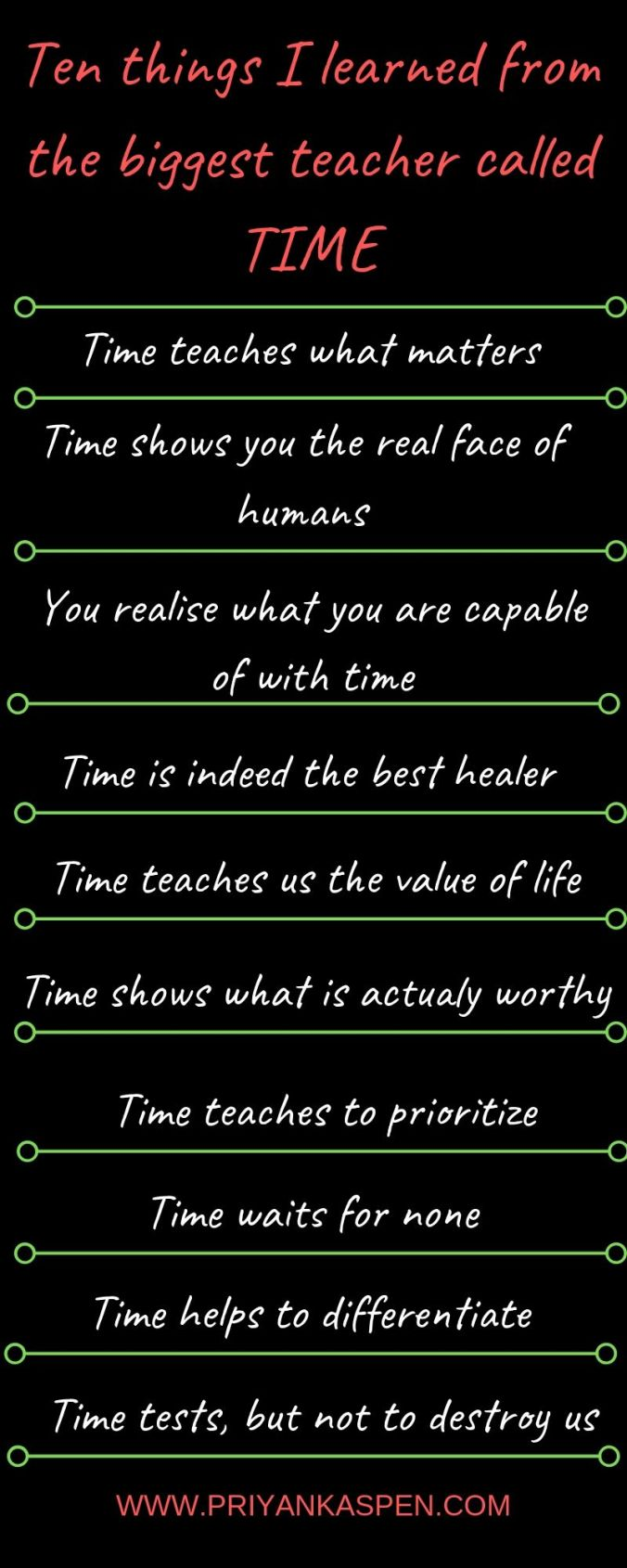 Time is the biggest teacher