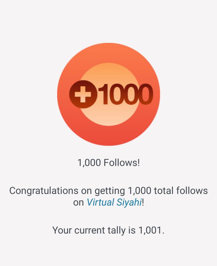 Virtual Siyahi 1000 followers