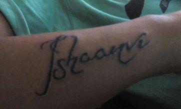 daughter name tatto