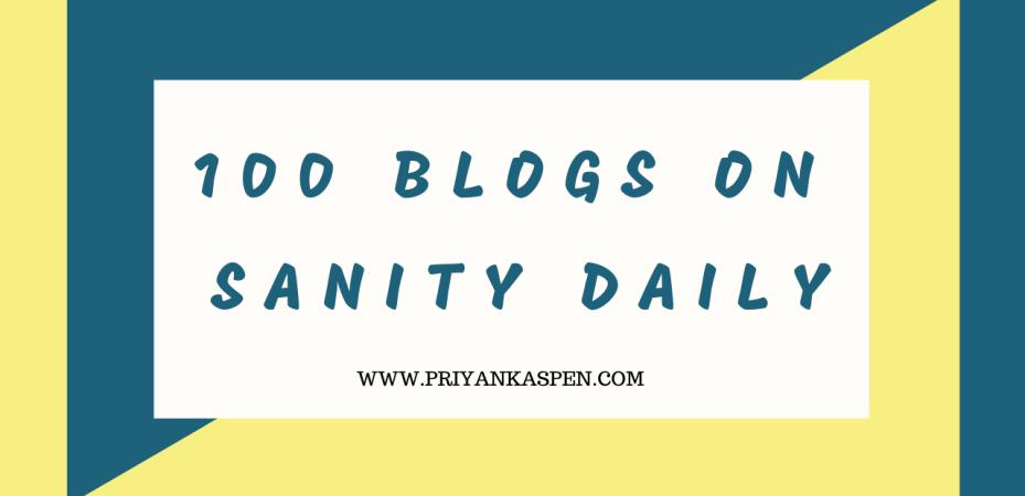Sanity Daily Blog